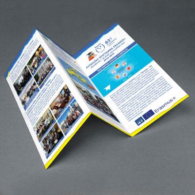 A4 Έντυπο τρίπτυχο σχεδιασμός και εκτύπωση