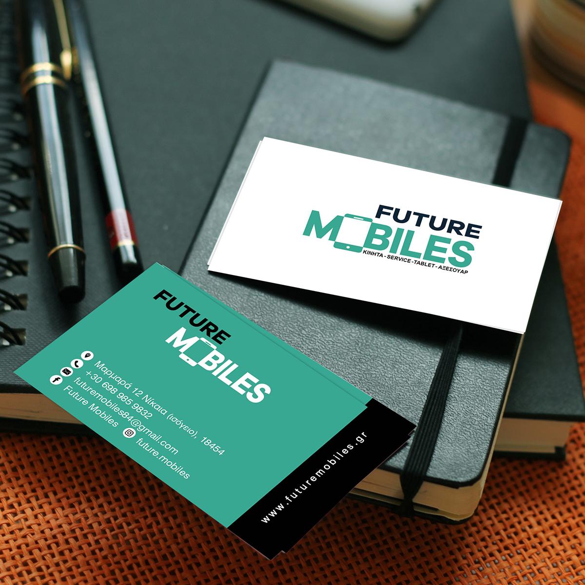 Επαγγελματική κάρτα future mobiles by designspirit